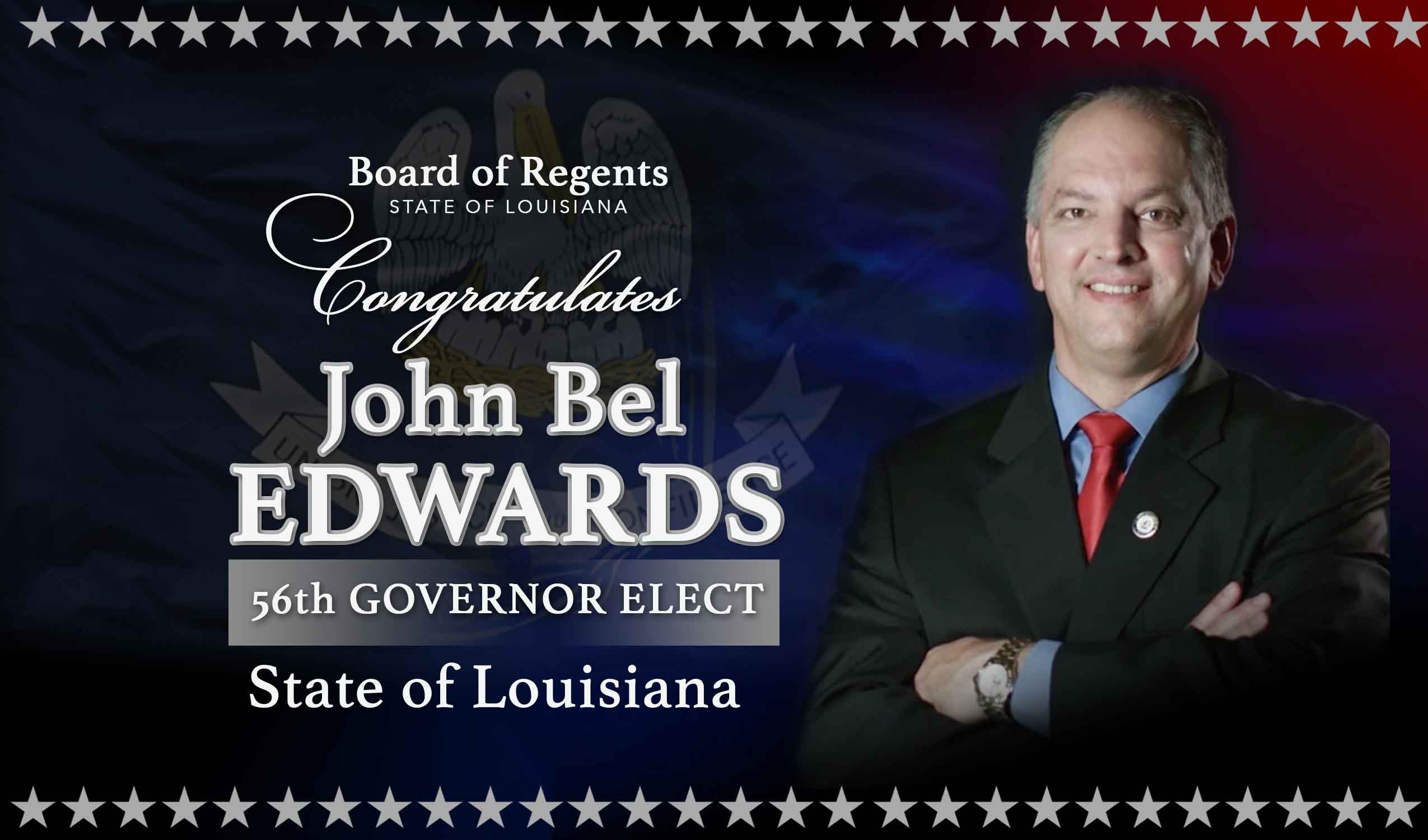 John Bel Edwards Governor Elect
